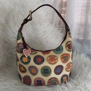 Authentic Dooney & Bourke Logo Heart Bucket Bag